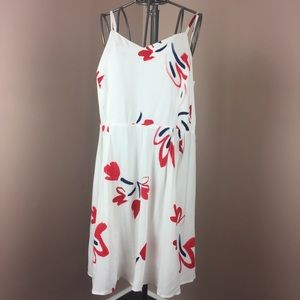 Old Navy white, blue and red sun dress